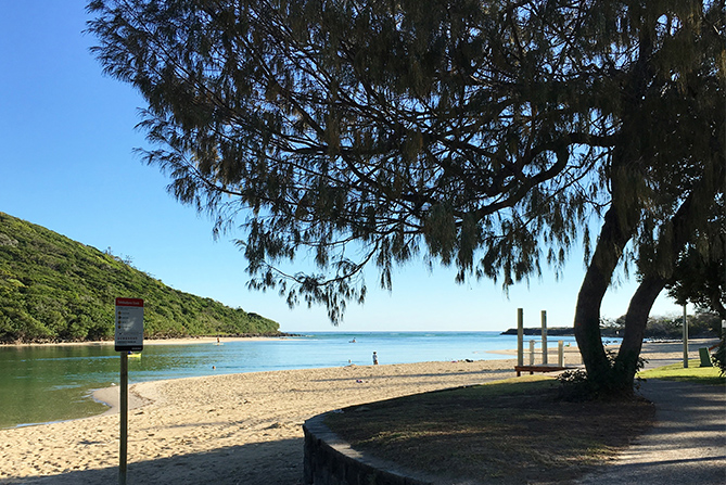 Best beaches Gold Coast Tallebudgera Creek